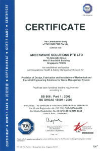 Greenwave SS-506 & OHS Certificate